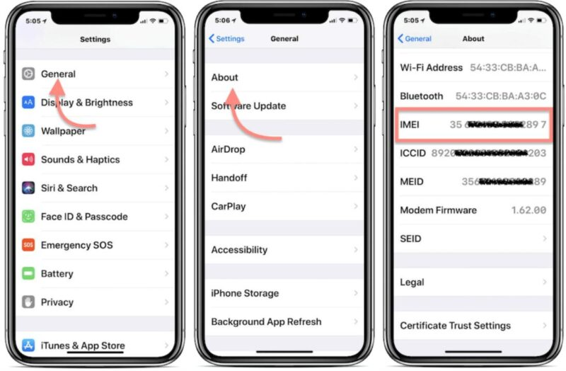 locate device imei number