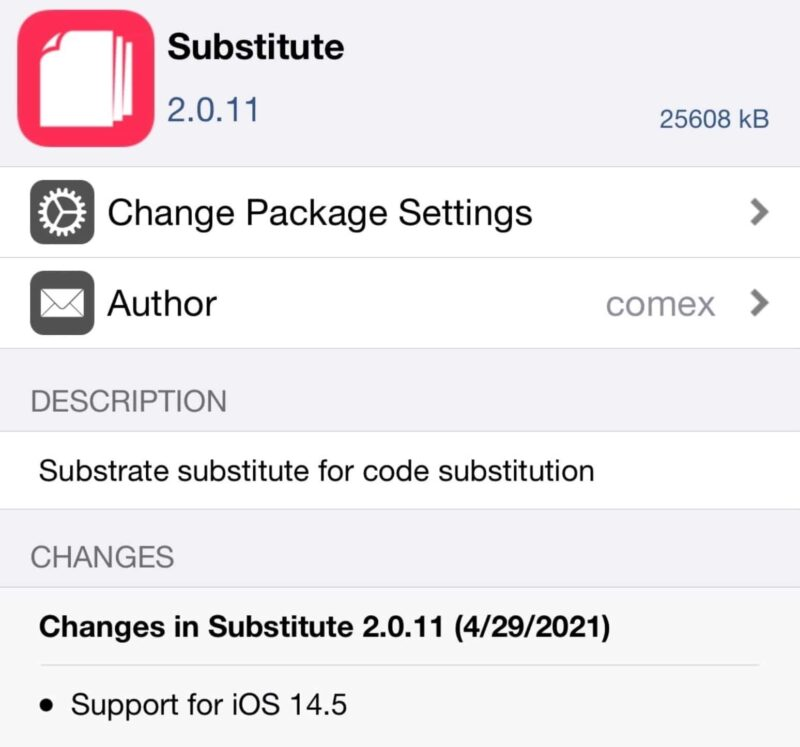 substitute 2.0.11 compatible jailbreak ios 14.5