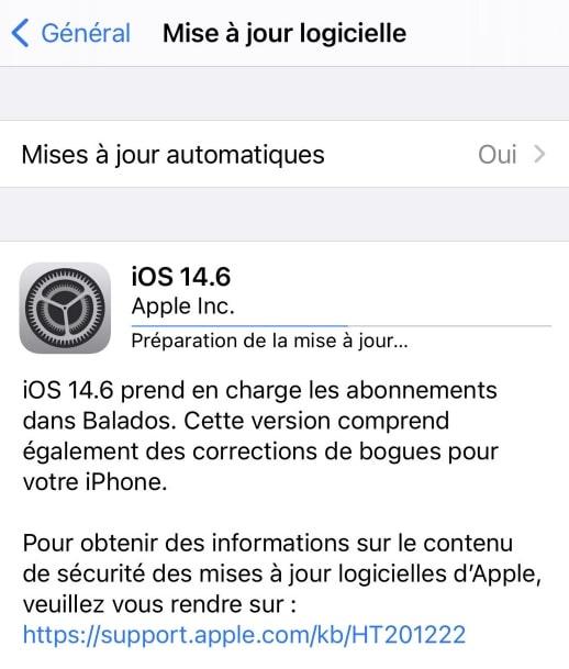 telecharger et installer ios 14.6