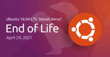 ubuntu 16.04 fin de vie