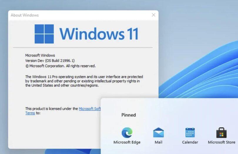 fuite interface windows 11