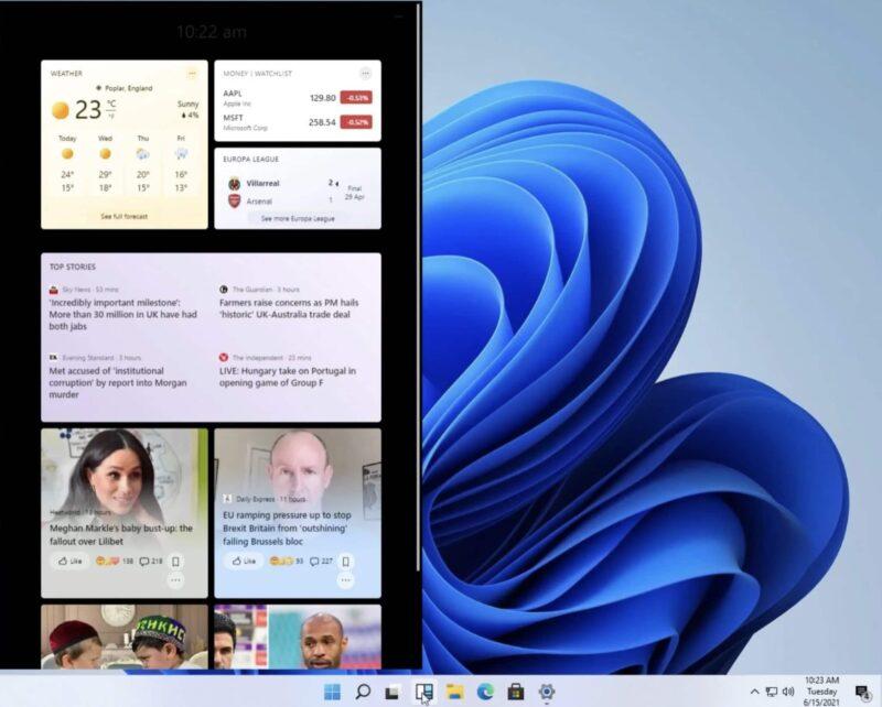 widget windows 11