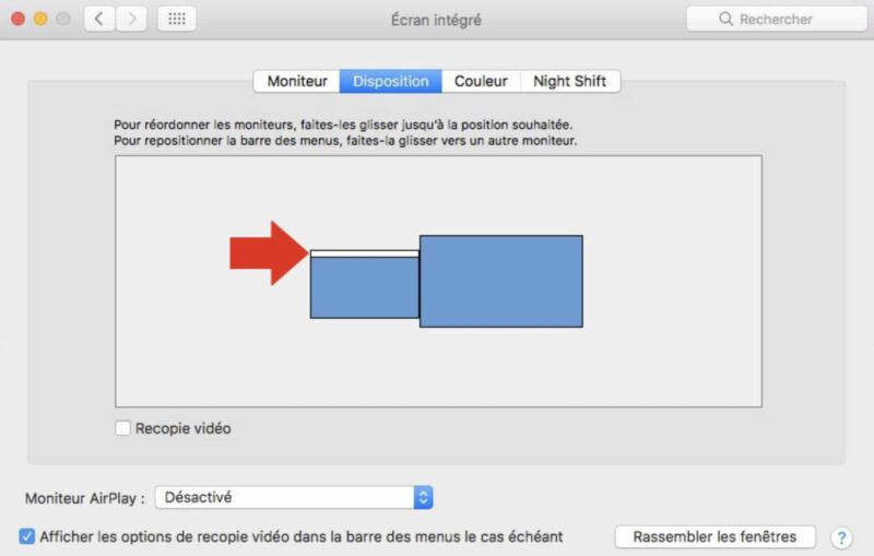 changer emplacement dock sur mac
