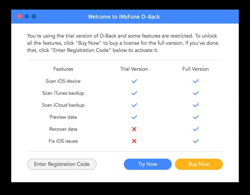 imyfone d back recuperation donnees iphone