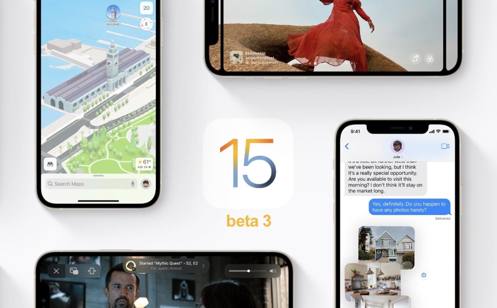 telecharger profil ios 15 beta 3