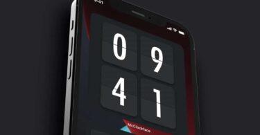 application mcclockface widget horloge iphone