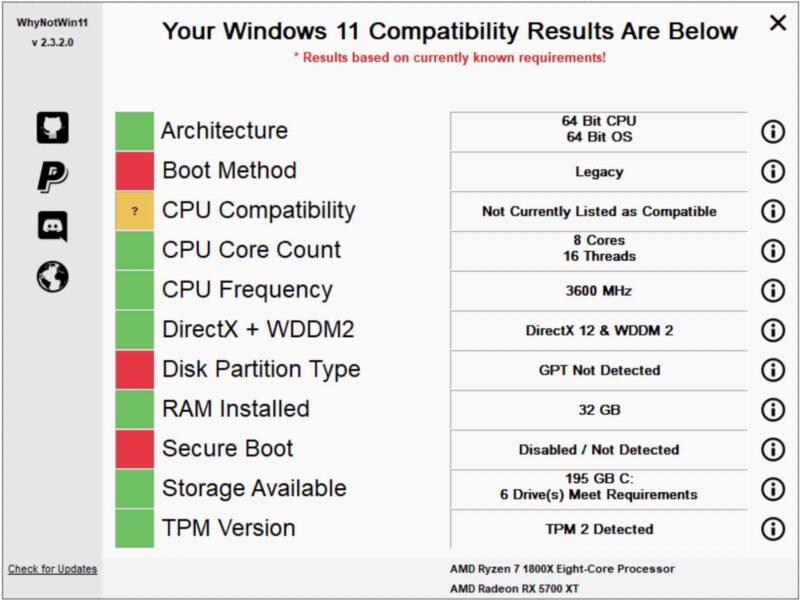 verifier la compatibilite windows 11 avec whynotwin11