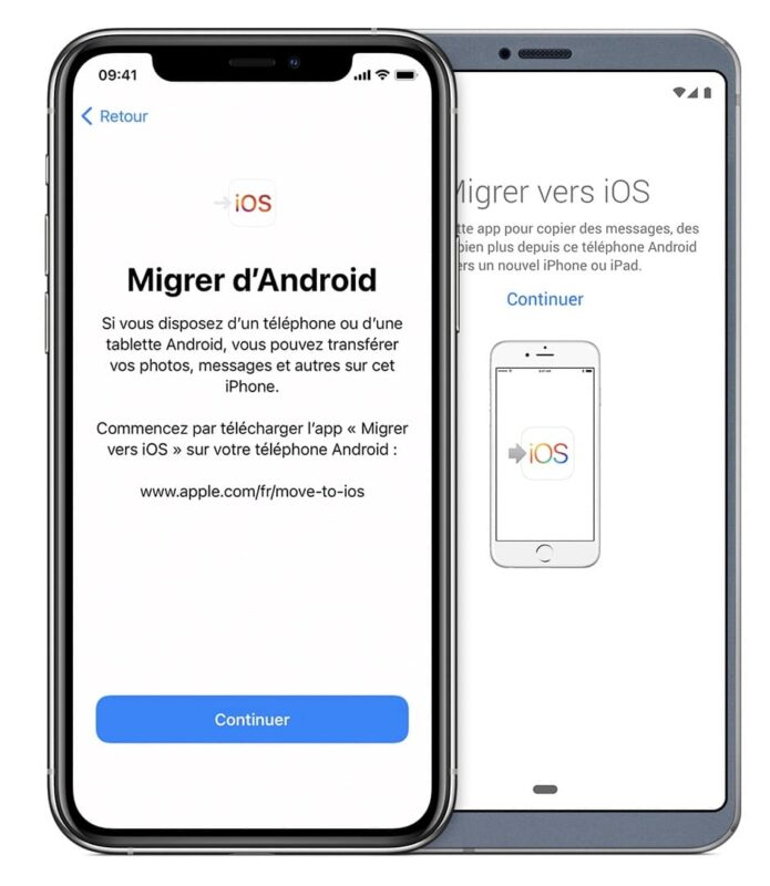 application migrer vers ios move to ios apple