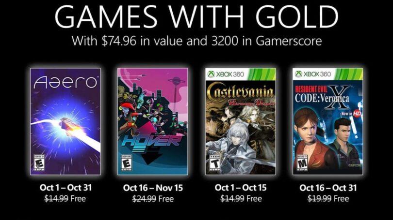 jeux xbox gratuit octobre 2021